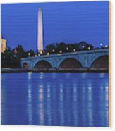 Washington D.c. - Memorial Bridge Wood Print