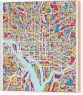 Washington Dc Street Map Wood Print