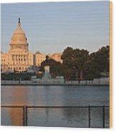 Washington Dc - Us Capitol - 011312 Wood Print by DC Photographer
