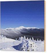 Washington In White Wood Print
