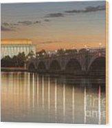 Washington Landmarks At Dawn I Wood Print