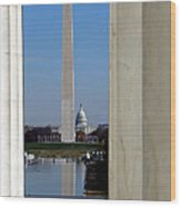 Washington Landmarks Wood Print by Olivier Le Queinec