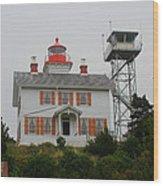 Washington Light House Wood Print