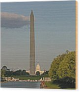 Washington Monument And Capitol Building-2 Wood Print