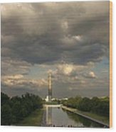 Washington Monument And Capitol Wood Print