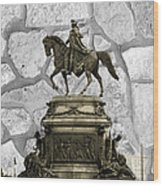 Washington Monument At Eakins Oval Wood Print