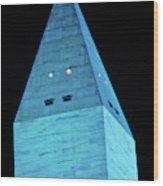 Washington Monument At Night Wood Print