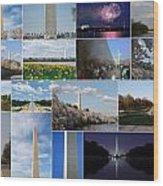 Washington Monument Collage 2 Wood Print