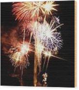 Washington Monument Fireworks 2 Wood Print