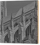 Washington National Cathedral  Bw Wood Print