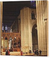 Washington National Cathedral - Washington Dc - 011312 Wood Print by DC Photographer