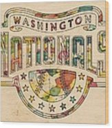 Washington Nationals Poster Art Wood Print