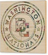 Washington Nationals Poster Vintage Wood Print