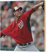Washington Nationals V Atlanta Braves Wood Print