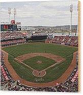 Washington Nationals V. Cincinnati Reds Wood Print