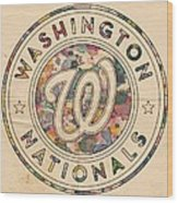 Washington Nationals Vintage Art Wood Print