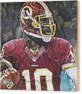 Washington Redskins' Robert Griffin IIi Wood Print by Michael  Pattison