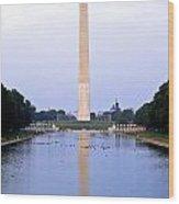 Washington Reflects Wood Print
