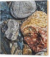 Washington River Rock Wood Print
