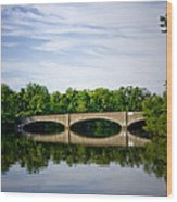 Washington Road Bridge Over Lake Carnegie Princeton Wood Print