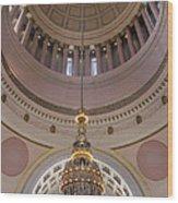 Washington State Capitol Building Chandelier Closeup Wood Print