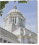 Washington State Capitol Building Dome Wood Print