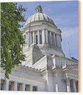 Washington State Capitol Building Wood Print