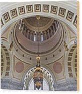 Washington State Capitol Building Rotunda Wood Print