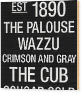 Washington State College Town Wall Art Wood Print by Replay Photos