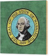 Washington State Flag Wood Print