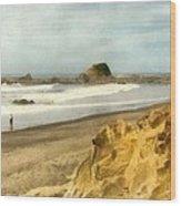 Washington State Seastacks Wood Print