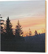Washington Sunrise Wood Print
