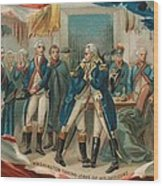 Washington Taking Leave Of His Officers Wood Print