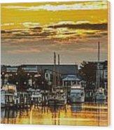 Washington Waterfront Wood Print