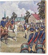 Washingtons Army, 1776 Wood Print