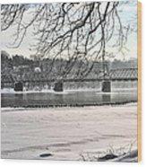 Washingtons Crossing Winter Wood Print