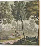 Washingtons House At Mount Vernon Wood Print