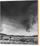 Washoe Clouds Wood Print