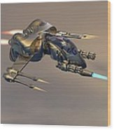 Wasp Fighter Wood Print