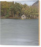 Wast Water Boat House Wood Print