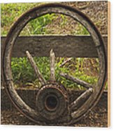 Www. Wasted Wagon Wheel Wood Print
