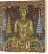 Wat Chai Monkol Phra Ubosot Buddha Images Dthcm0849 Wood Print