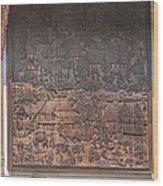 Wat Chai Monkol Phra Ubosot Diorama Of Village Life Dthcm0856 Wood Print