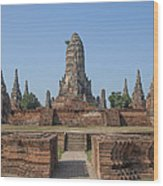 Wat Chaiwatthanaram From The East Dtha0187 Wood Print