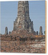 Wat Chaiwatthanaram Ubosot Platform And Buddha Images Dtha0189 Wood Print