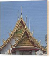 Wat Chumphon Nikayaram Phra Ubosot Gables Dtha0125 Wood Print