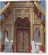 Wat Dok Eung Phra Ubosot Entrance Dthcm0353 Wood Print