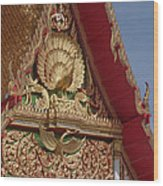 Wat Luang Pu Supa Ubosot Gable Dthp330 Wood Print