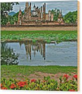 Wat Mahathat In13th Century Sukhothai Historical Park-thailand Wood Print
