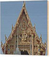 Wat Na Kwai Ubosot Front Gable Dthu161 Wood Print